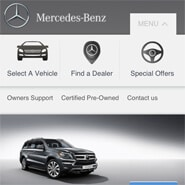 Mercedes Mobile Website