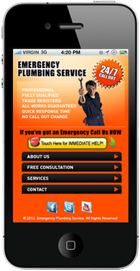 Local Mobile Website for Plumber Business