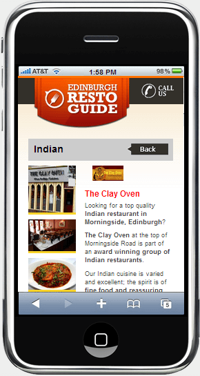 edinburgh restaurant guide iphone